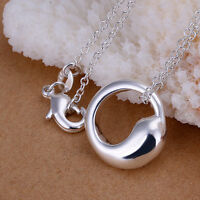 New 925 Sterling Silver Filled Lucky Tai Chi Pendant Necklace Chain