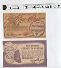 Western Roy Rogers & Trigger Pledge to Parents and Merchandise Card Ad - 2 Sizes