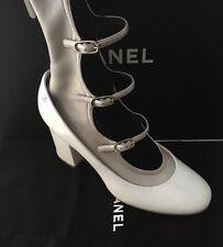 NIB CHANEL 2016 Runway Patent CC Logo Sock Mary Jane Gladiator Shoes Boots SZ 39