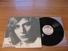 G. WAYNE THOMAS - Self Titled NMINT LP -Folk Rock 1973 MORNING OF THE EARTH MOTE
