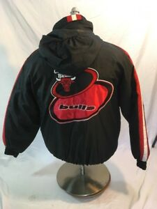 Logo Athletic Chicago Bulls Basketball NBA Jacket Youths Large Spell Out #51