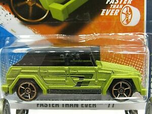 HOT WHEELS VHTF 2011 FASTER THAN EVER SERIES VOLKSWAGEN TYPE 181