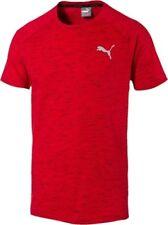 P29. Puma Mens T-Shirt Evostripe Spaceknit Rosso TAGLIA L Nuovo con Etichetta