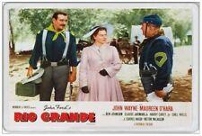 JOHN WAYNE - JUMBO FRIDGE MAGNET  RIO GRANDE LOBBY CARD COWBOY WESTERN INDIANS