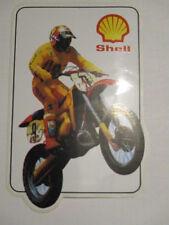 AUTOCOLLANT : MOTO DE CROSS SHELL 14 x 9 cm