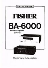 Fisher Service Manual for BA 6000
