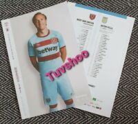West Ham United v Aston Villa LAST Programme season 26/7/20! READY TO DISPATCH!!