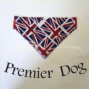 Union Jack Dog Bandana - slips onto your dogs collar - 2 sizes available