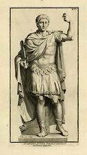 Antique Print-SCULPTURE-AUGUSTUS-EMPEROR-ROME-Randon-1704