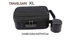 Xl Carbon lined Smell Proof Case. Travelsafe.Fast Shipping!
