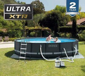 Ultra 16ft intex 4.88 swimming pool 122cm metal ladder cover sand pump eu uk ire