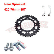Nouveau pignons arrière 420-76mm-35T en noir Pour SDG hub wheel Pit Dirt  Bikes