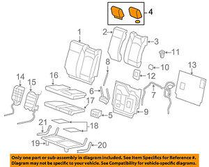 GM OEM Third Row Seat-Headrest Head Rest 25810602