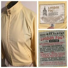 80's London Fog Men Sz M Lightweight Zip Up Jacket Dacron Rain Repellent Sailing