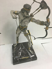 Antique Archer Dore statue, Italian, Vasari gold over bronze
