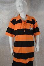 Wilde Kerle Retro-Trikot, orange-schwarz Gr. S, Polo-Shirt, Polohemd, neu