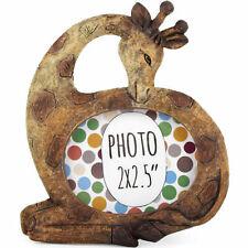 NEW - Cute Small Giraffe Animal Wildlife Resin Photo Frame Ideal Stocking Filler