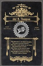 JL US FUNERAL CARD 1904 VERY NICE HARD TO FIND!!! Z64