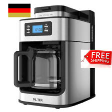 1050W 1.25L Edelstahl Kaffeemaschine Kaffeeautomat mit Mahlwerk Mühle Timer