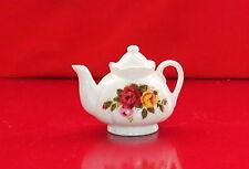 COTTAGE ROSE FINE BONE CHINA MINIATURE TEA POT TEAPOT