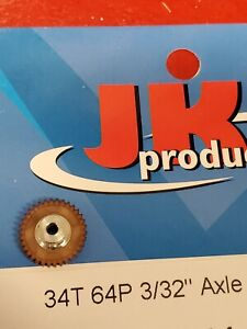 JK 42341 64P 34T Spur Gear Purple 3/32 1/24 slot car from Mid America