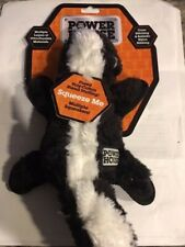 Power House Dog Toy Skunk Fox Raccoon New Strong Ultra Durable