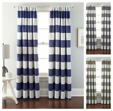 Striped Lining Thermal Curtains Drapes Valances For Sale Ebay