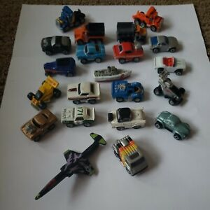 Vintage Micro Machines Lot of 21 cars trucks JET airplane F104 Starfighter, Boat