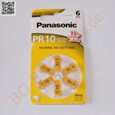 1 x PR10 Hörgeräte Batterie hearing aid PR230L PR536 Panasonic  1pcs