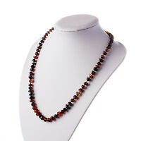Natural Baltic Amber Adult Rounded Beads Necklace in any Color You Choose