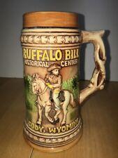 "VTG Buffalo Bill Historical Center Stein Glass Mug Ceramic 7"" Tall Cup Japan"