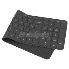 Silicone Keyboard Cover Keypad Skin for HP Pavilion 15'' Laptop Black