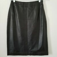Kasper Women's Black Leather Pencil Skirt Size 2 Petite