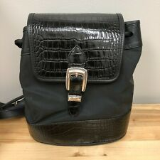 Brighton Backpack Black Croc Purse with Original Box & Dustcover Bag