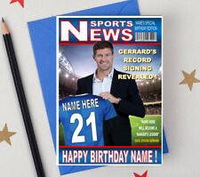 STEVEN GERRARD GLASGOW RANGERS FOOTBALL FAN Personalised Birthday Card! ANY NAME