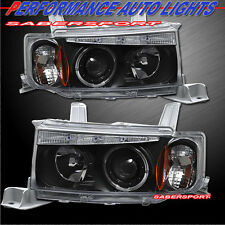 2003-2006 SCION xB HALO PROJECTOR HEADLIGHTS BLACK w/ LED PAIR 03 04 05 06