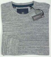 NWT $69 Buffalo David Bitton Textured Sweater Mens Gray NEW Long Sleeve Grey