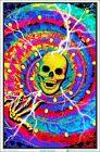 Spiral Skull Blacklight Poster 23 x 35