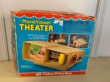 Old Vtg FISHER PRICE TOYS Movie Viewer Theater With Sesame Street Movie In Box