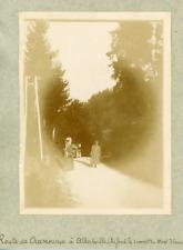 France, Route de Chamonix à Albertville, ca.1900, vintage citrate print Vintage