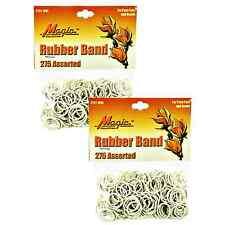 Hair Rubber Bands PonyTails Braids (QTY 550) White Magic - B2G1 FREE! _144-08W