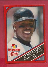 RARE 1990 GIANTS KEVIN MITCHELL  WONDER BREAD STARS CARD