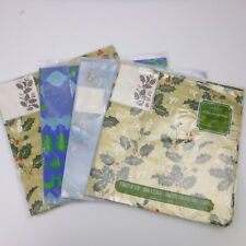 Norcross Christmas Holiday Vintage Gift Wrap 4 SEALED Packages
