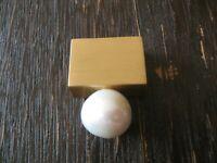 exklusiver moderner Designer Anhänger 925er Silber gold große Perle stilvoll
