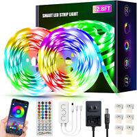 32.8ft Led Lights for Bedroom Led Strip Lights Music Sync Color Changing Lights