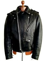 Vtg Mens leather 70s SCHOTT PERFECTO 125 Motorcycle Biker Cafe Racer Jacket Coat