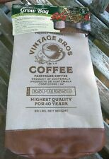 New Vintage Style PLANT Grow Bag with Vintage Bros Coffee Insigna