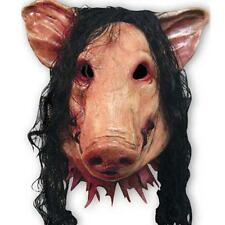 Scary Saw Pig Latex Mask Full Head Horror Animal Cosplay Prop Halloween Party US