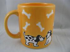 Dog & Bones on Yellow Mug 12oz Waechtersbach Germany New