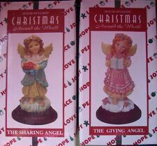 HOUSE OF LLOYD CHRISTMAS AROUND THE WORLD THE SHARING ANGEL&GIVING ANGEL